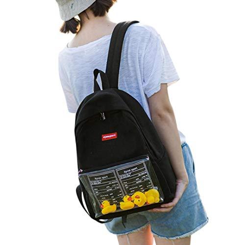 TAOtTAO Kind Baby Mädchen Jungen Kinder Ente Tier Student Rucksack Kleinkind Schultasche (Schwarz)