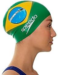 Speedo Bra Flag cap Uni Grn - Cuffia, Colore Verde (Green)
