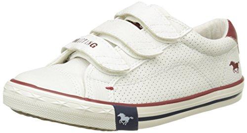 Mustang Unisex-Kinder 5803408 Sneaker Elfenbein - Blanc Cassé (100 Off White)