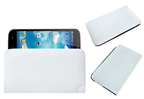 Acm Rich Leather Soft Case For Karbonn Titanium S6 Mobile Handpouch Cover Carry White  available at amazon for Rs.179