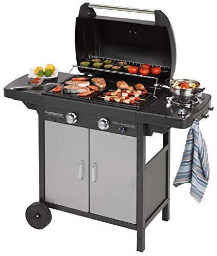 Campingaz Gas BBQ 2 Series Classic EX Vario, 2 Burner Barbecue and Side Burner