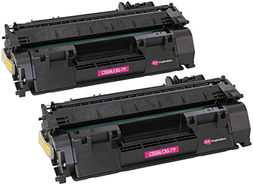 2 INK INSPIRATION Tóners compatibles para HP Laserjet P2030 P2033 P2035 P2035N P2050 P2055 P2055D P2055DN P2055X CE505A 05A Canon LBP-6300DN LBP-6310DN LBP-6650DN LBP-6670DN CRG 719 | 2300 páginas