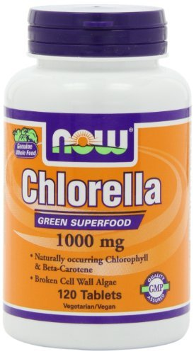 Now Foods Chlorella 1000 mg Standard, 120 Kapseln
