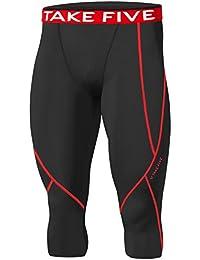 Hombres Deportes de np520Apparel Base Mallas de compresión Under capa de piel Capri–Pantalones para mujer, hombre, negro