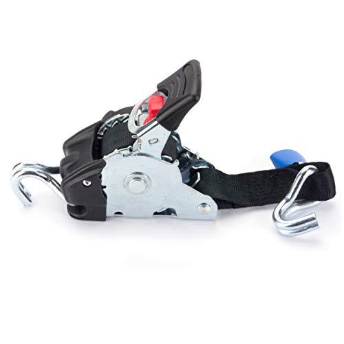 Marwotec Verbindungselemente 4 x Automatik Spanngurt/Automatischer Zurrgurt 3,0m x 50mm 750daN/1500 daN selbstaufrollend mit Spitzhaken