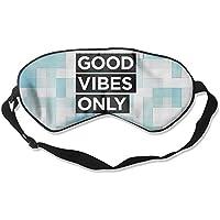 GOOD VIBES ONLY 99% Eyeshade Blinders Sleeping Eye Patch Eye Mask Blindfold For Travel Insomnia Meditation preisvergleich bei billige-tabletten.eu