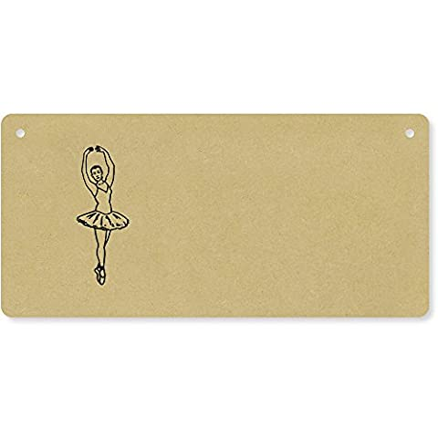 'Ballet Dancer' Wooden Wall Plaque / Door Sign (DP00024605)