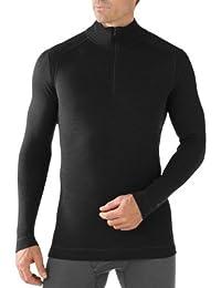 SmartWool NTS Mid 250 - Camiseta de compresión con cremallera para hombre negro negro Talla:XL