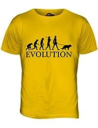 York Street De la Evolución de Man de Pastor Alemán - para Hombre T-Camiseta