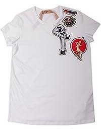 N°21 Femme F03441571101 Blanc Coton T-Shirt