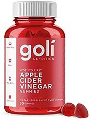 GOLI - World's First Apple Cider Vinegar Gummy Vitamins - 1 Pack - (60 Count, Organic, Vegan, Gluten-Free,