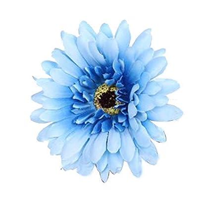 Rocita Ramo de crisantemo de simulación,Flores de crisantemo Artificial Flores Decoración romántica para Fiesta de Bodas (Azul)
