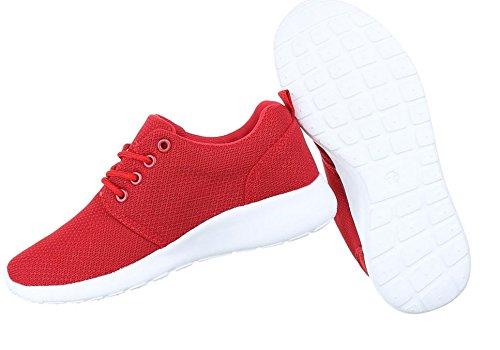 Damen Freizeitschuhe Schuhe Sportschuhe Turnschuhe Sneaker Laufschuhe Pink Schwarz Blau Grau Rot Weiß 36 37 38 39 40 41 Rot