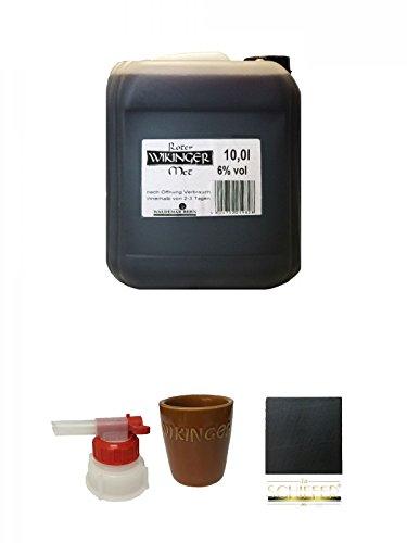 Original roter Wikinger Met Honigwein 10 Liter Kanister + Pumpe für Wikinger Met 10 Liter Kanister...