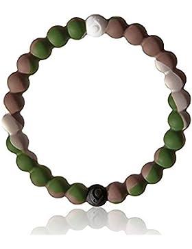 Lokai Neues Armband aus Silikon, Glücksbringer, Farbe: Tarnmuster, in Größe S, 17 cm, speziell für Kinder