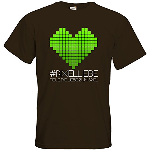 getshirts - The Pixel-Heroes Lootbox - T-Shirt - Motiv 2 Chocolate