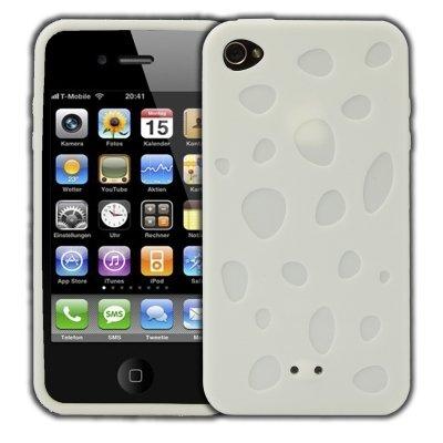 Logotrans Cheese Series Silikon Schutzhülle für Apple iPhone 4 rosa Weiß
