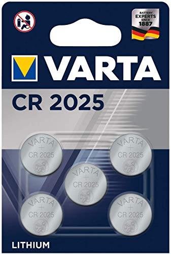VARTA CR2025 Batterien (Electronics Lithium Knopfzelle 3V Batterie 5er Pack Knopfzellen in Original 5er Blisterverpackung)