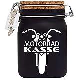 Spardose Motorrad Biker Kasse in Schwarz L