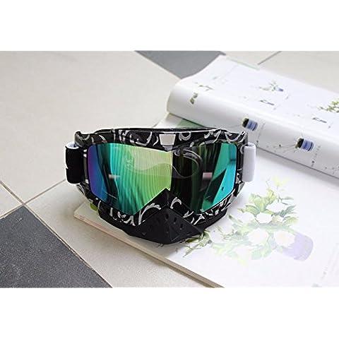 ZHGI Gli occhiali di protezione off road equitazione motocross occhiali Occhiali maschere da sci,un