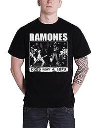 Ramones T Shirt Live at CBGB nuevo York 1978 Oficial de los hombres nuevo negro