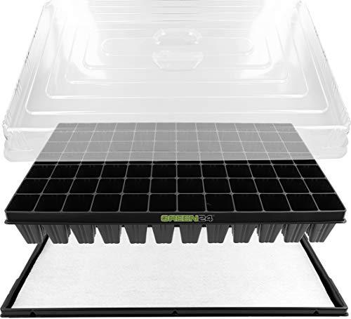 GREEN24 Hydroponik XL84 Zimmergewächshaus Pro mit automatischer Bewässerung für die Anzucht...
