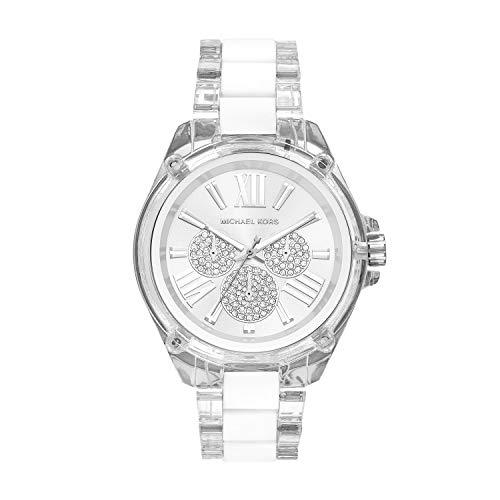 Michael Kors Damen Analog Quarz Uhr mit Nylon Armband MK6675