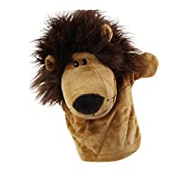 Soft Plush Cute Cartoon Animal Hand Puppets friendGG Moving Mouth Cartoon Puppet for Kids Adults Children Play Learn Story Toy Doll Glove Educational Stuffed Toy Tool Game (as the picture, lion)