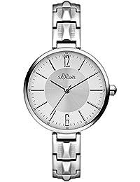 s.Oliver Damen-Armbanduhr Analog Quarz Edelstahl SO-3088-MQ