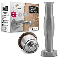 Greenvea - Kit complet de capsule à café Nespresso rechargeable et réutilisable. Capsule réutilisable café & thé en…