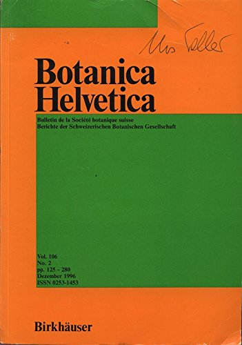 flora helvetica Contribution to the urban ecology of Greece: The flora of the city of Patras and the surrounding area, in: BOTANICA HELVETICA, Dezember 1996.