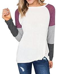 ... estrellas 2 · ❤ Tefamore Camiseta de Mujer Camisas O-Cuello Manga de Larga Camisa Patchwork Blusas