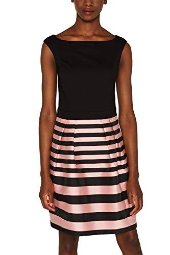 ESPRIT Collection Damen 079EO1E017 Kleid, Schwarz (Black 001), (Herstellergröße: 40)