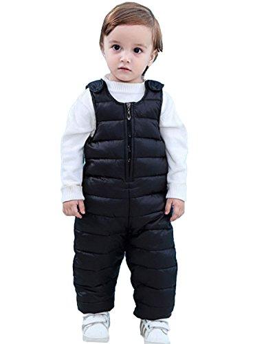 Kidsform Bébé Garçons Fille Enfants Pantalons Et Salopettes De Neige Vêtements Imperméables Combinaisons De Ski Hiver Chauds Noir 1-2Y