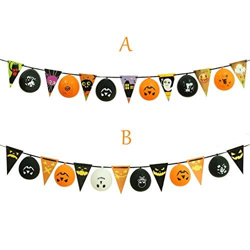 YCEOT Wandaufkleber Einfach Dekoration Mode Halloween Flagge Ballon Indoor/Outdoor Party Decor Spielzeug Kinder Geschenk