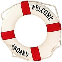Salvavidas - SODIAL(R)Bienvenido a bordo Anillo Salvavidas de vida nautico de espuma