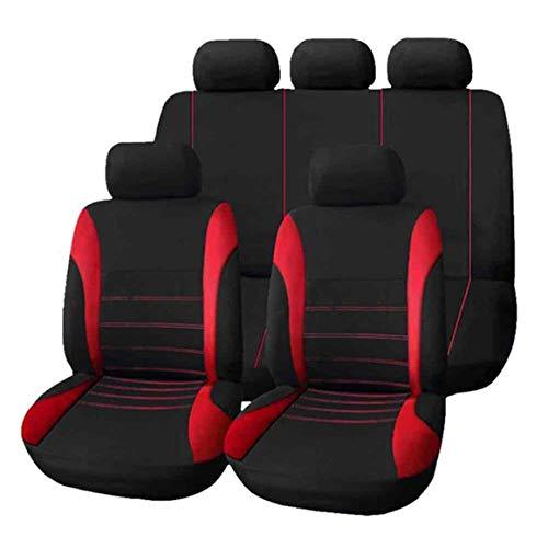 Funnyrunstore 9pcs / Set Coprisedili per auto confortevoli protezioni coprisedili antipolvere Copertura universale coprisedili per auto veicolo (rosso)