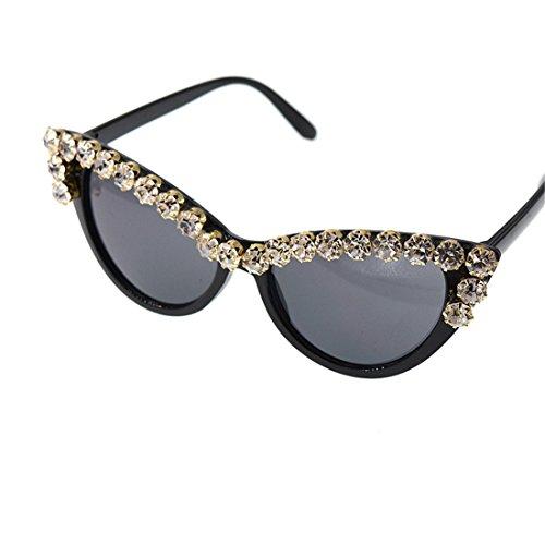 GUO Sonnenbrillen Mode Trend mit Diamond Crystal Sonnenbrille,