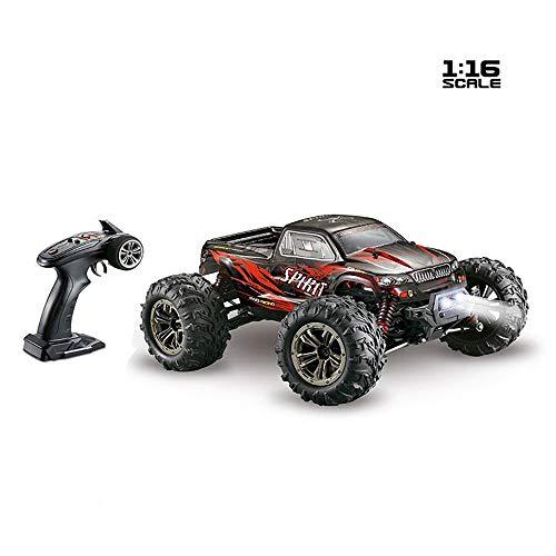 Link Co 4WD 1: 16 Big Foot Hochgeschwindigkeitsmodellauto Elektrisches ferngesteuertes Auto 52 km/h, ferngesteuert, Geländewagen,Red