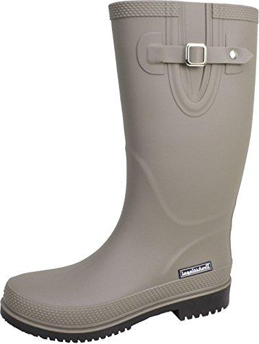 BOCKSTIEGEL® JETTE - Standard/K/KB Bottes de pluie courtes pour Femmes | Boucle latérale à la mode | Logo | Production européenne | Confortable grey / black