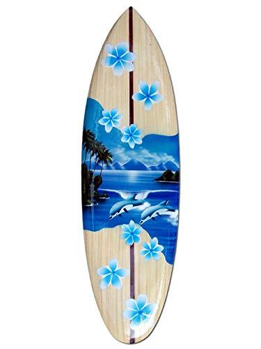 Seestern Sportswear Deko Holz Surfboard 50,80 oder 100 cm Airbrush Design Surfing Surfen Wellenreiten Surf /FBA_1860 50 cm