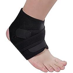 Tobillera adjustable de OMorc, Protección de tobillos Neopreno Transpirable Unisex Tobillo esguince ideal para prevenir lesiones en el tobillo de las actividades diarias