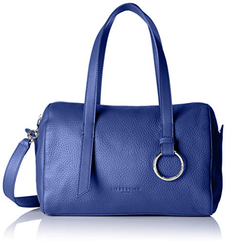 Liebeskind Berlin Damen Miduffelm Heavyp Bowling Tasche, Blau (Deep Blue), 17x21x31 cm
