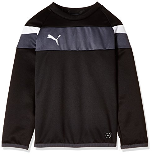 PUMA Kinder Sweatshirt Spirit II Training Sweat Mantel, Black/White, 152