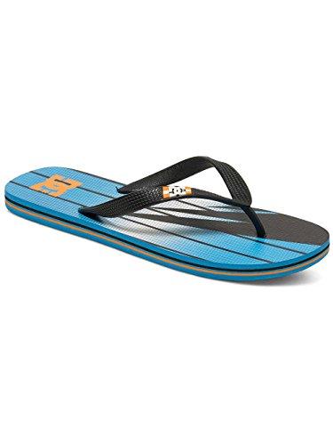DC Shoes SPRAY GRAFFIK D0303276 Herren Zehentrenner Noir - Black/Orange/Blue