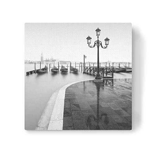 artboxONE Leinwand 40x40 cm Städte Piazzetta San Marco II Venedig von Ronny Behnert