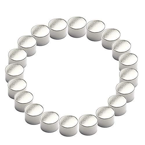20 sehr starke Neodym Power-Zylindermagnete | Ø 9 mm | Höhe 6 mm | Office Magnete Büromagnete | Magnete für Whiteboard Magnettafel | auf Glasmagnettafeln bauartbedingt weniger Halt