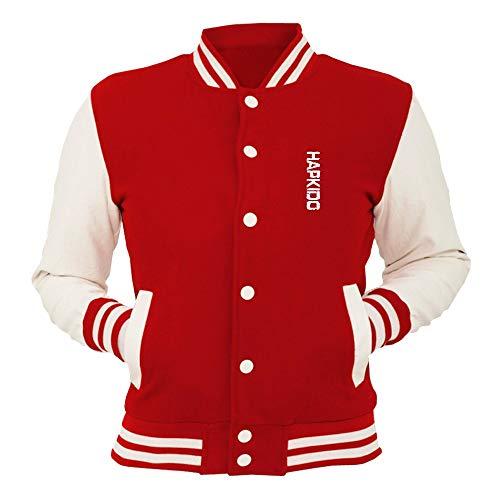 Speed Shirt Chaqueta de Colegio roja TAM0043 Hapkido BW Rojo Rosso XXL