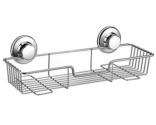 ARCCI Panier de Rangement rectangulaire en Acier Inoxydable avec Ventouse pour Cuisine/Salle de Bain