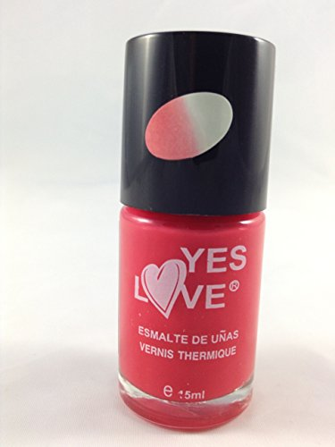 Vernis thermique change de couleur REF10 Rouge / Transparent - nail art